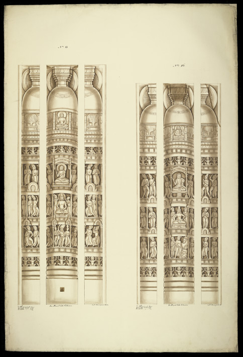 Drum pilasters from the Great Stupa of Amaravati